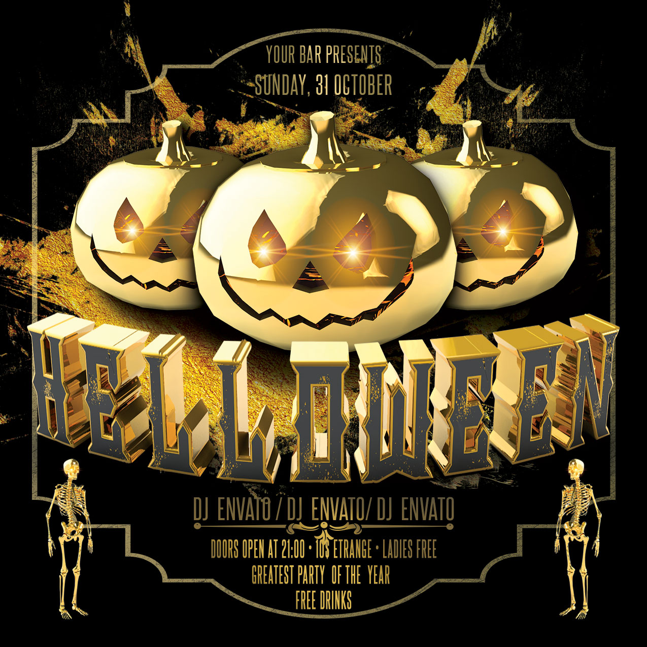Halloween Party Flyer example image 3