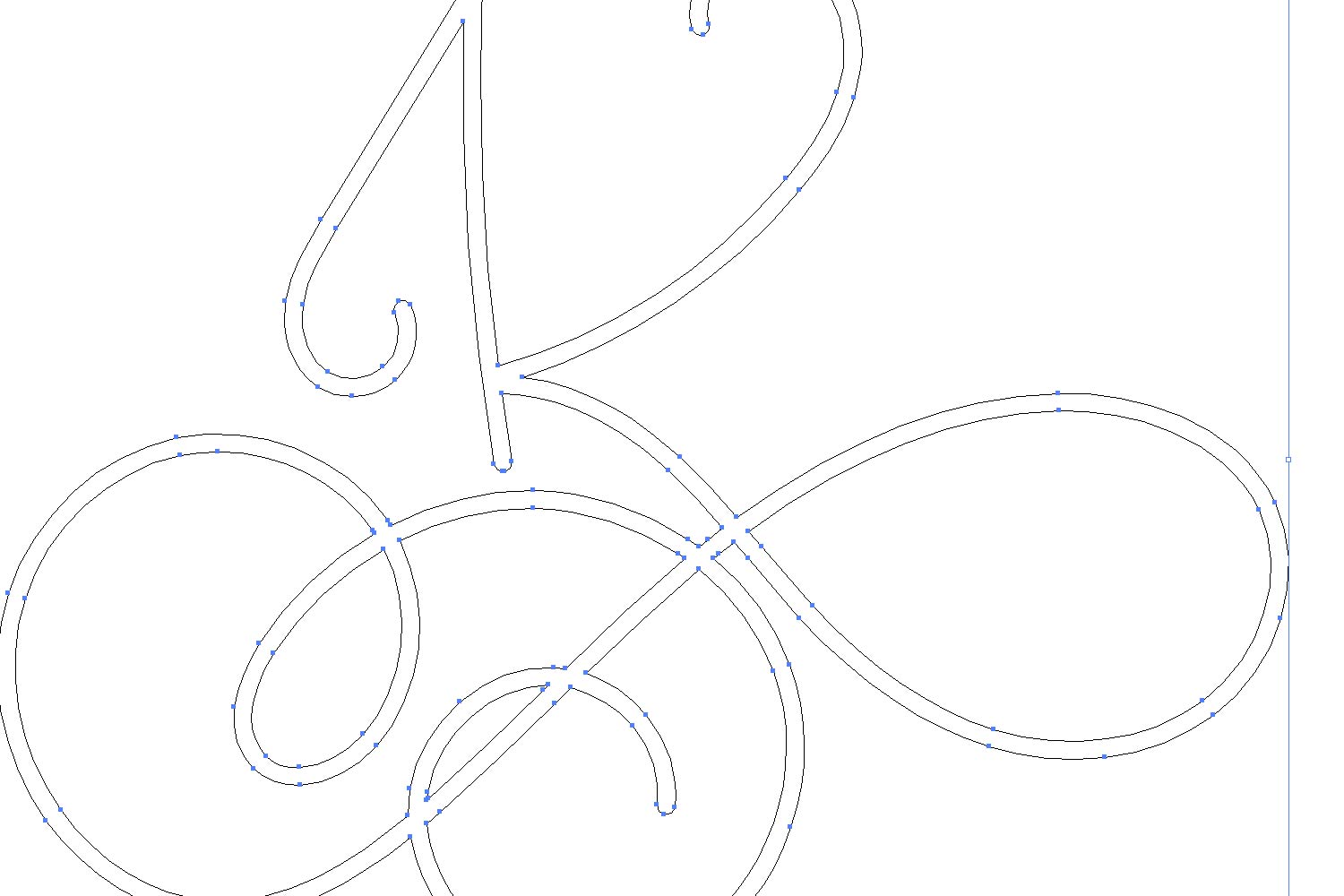 Hairline Monogram Font - Bold Version Included example image 3
