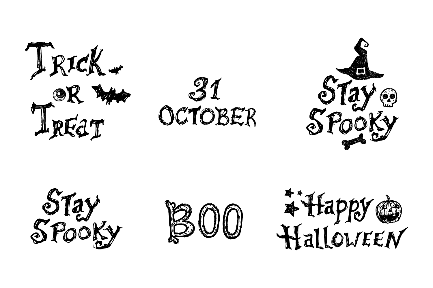 Halloween Vector Illustrations example image 3
