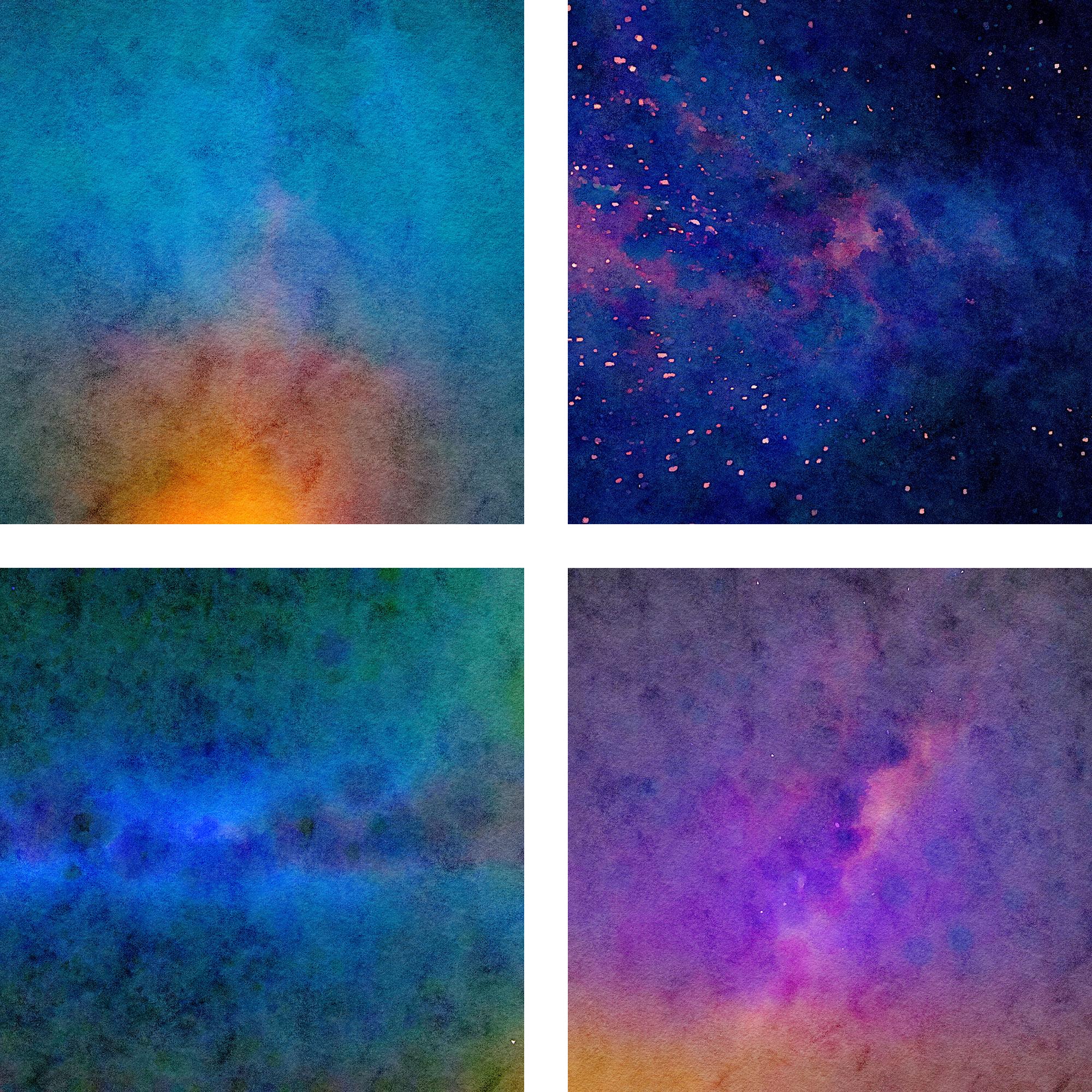 Watercolor Nebula Digital Paper example image 3