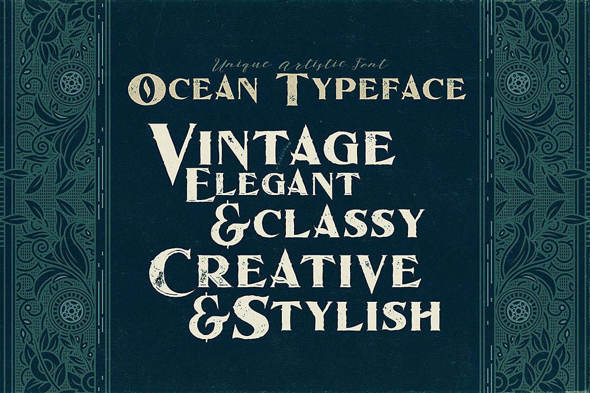 Ocean - Display Font example image 4