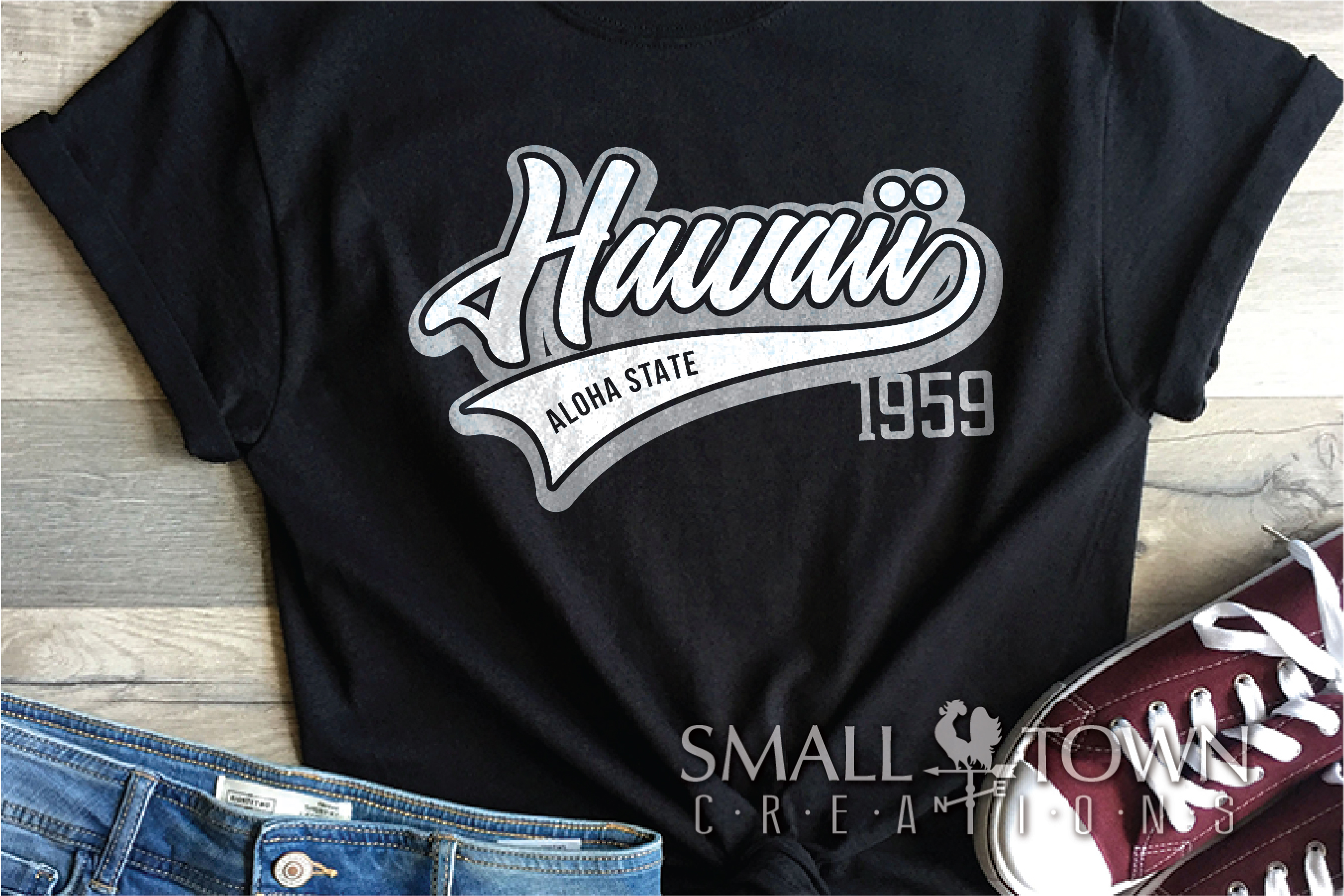 Hawaii, Aloha State - slogan, Logo, PRINT, CUT & DESIGN example image 2