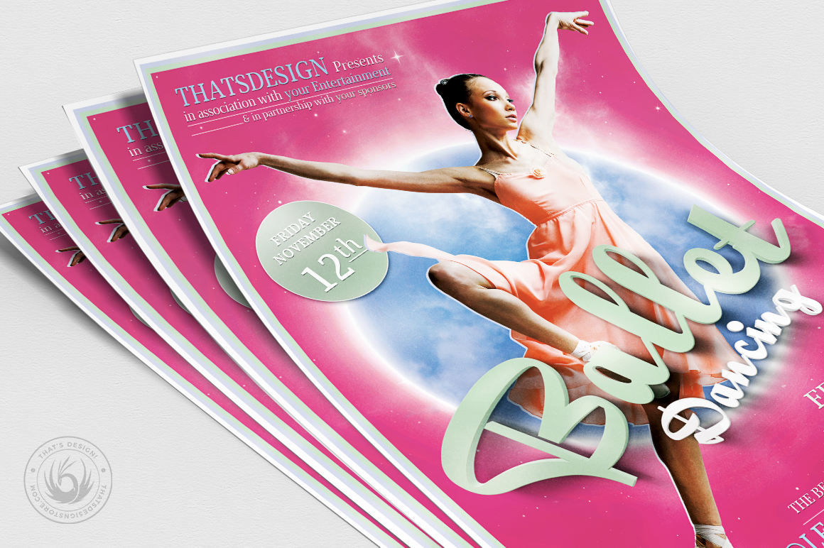 Dance Ballet Flyer Template V2 example image 5