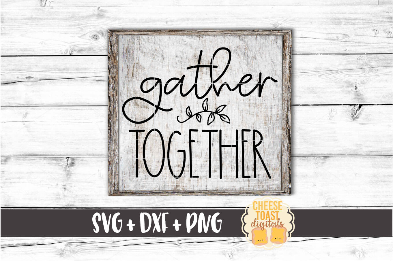Gather Together - Fall Sign SVG PNG DXF Cut Files example image 1