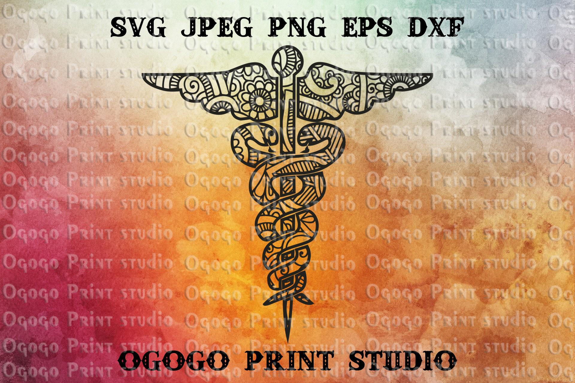 Nursing svg, Snake svg, Mandala Svg, Zentangle SVG, Cricut example image 1
