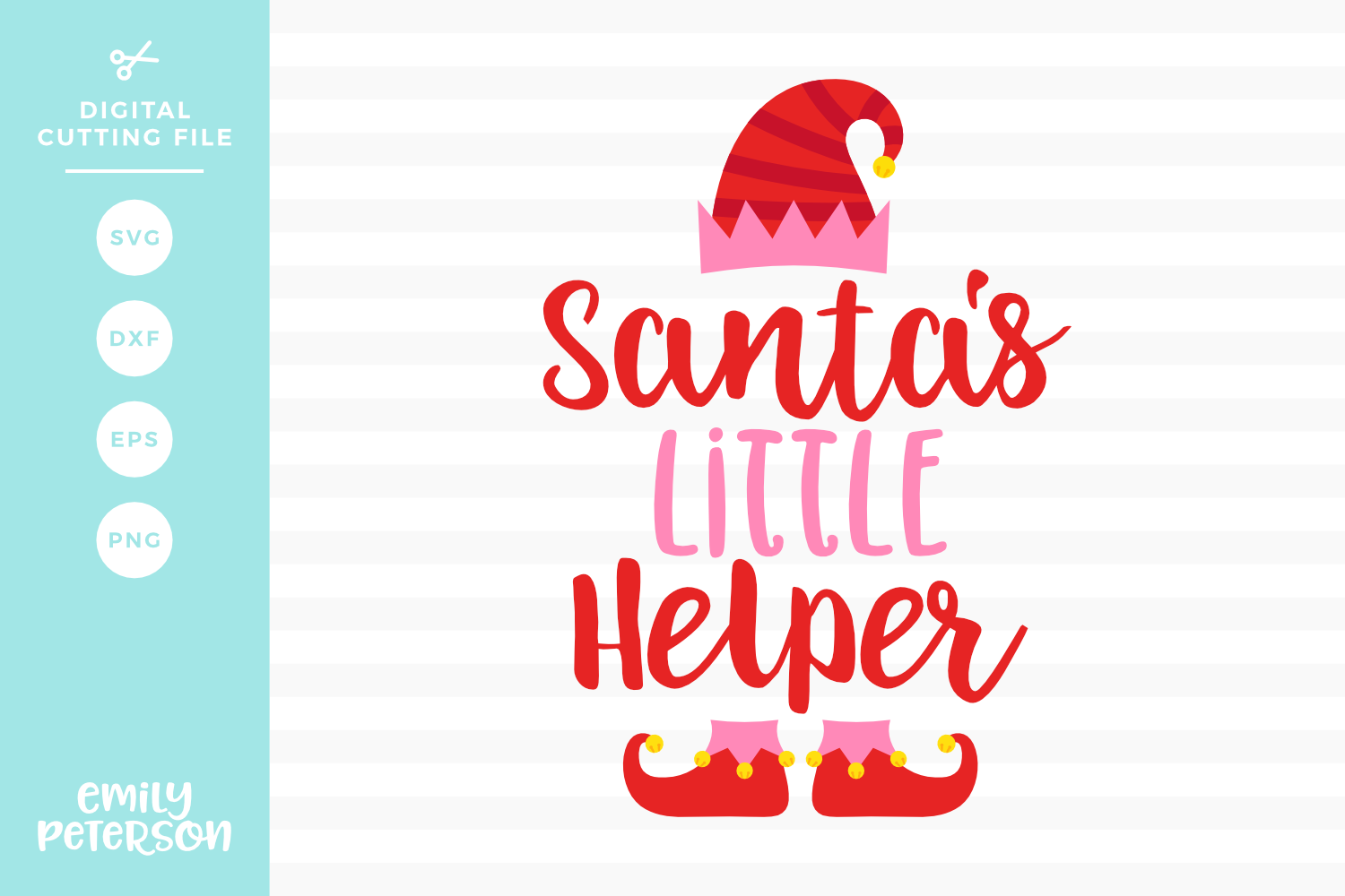 Santa's Little Helper SVG DXF EPS PNG example image 1