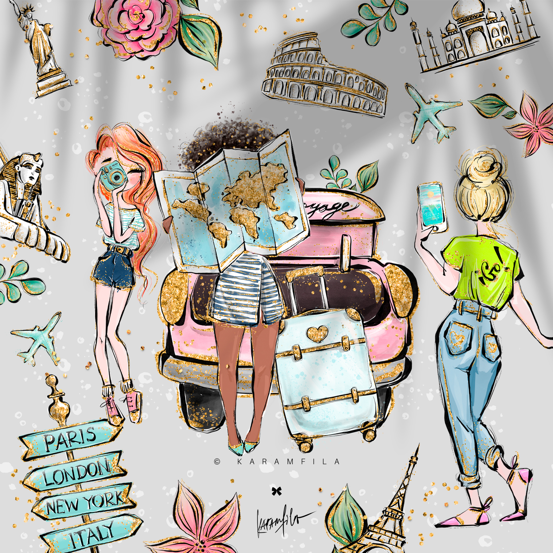 Wanderlust Clipart example image 4