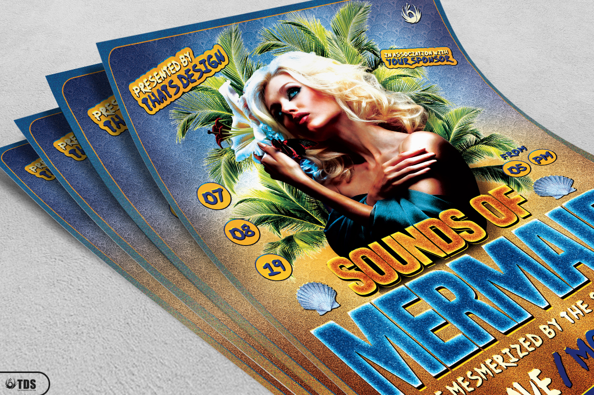 Beach Party Flyer Template V6 example image 3