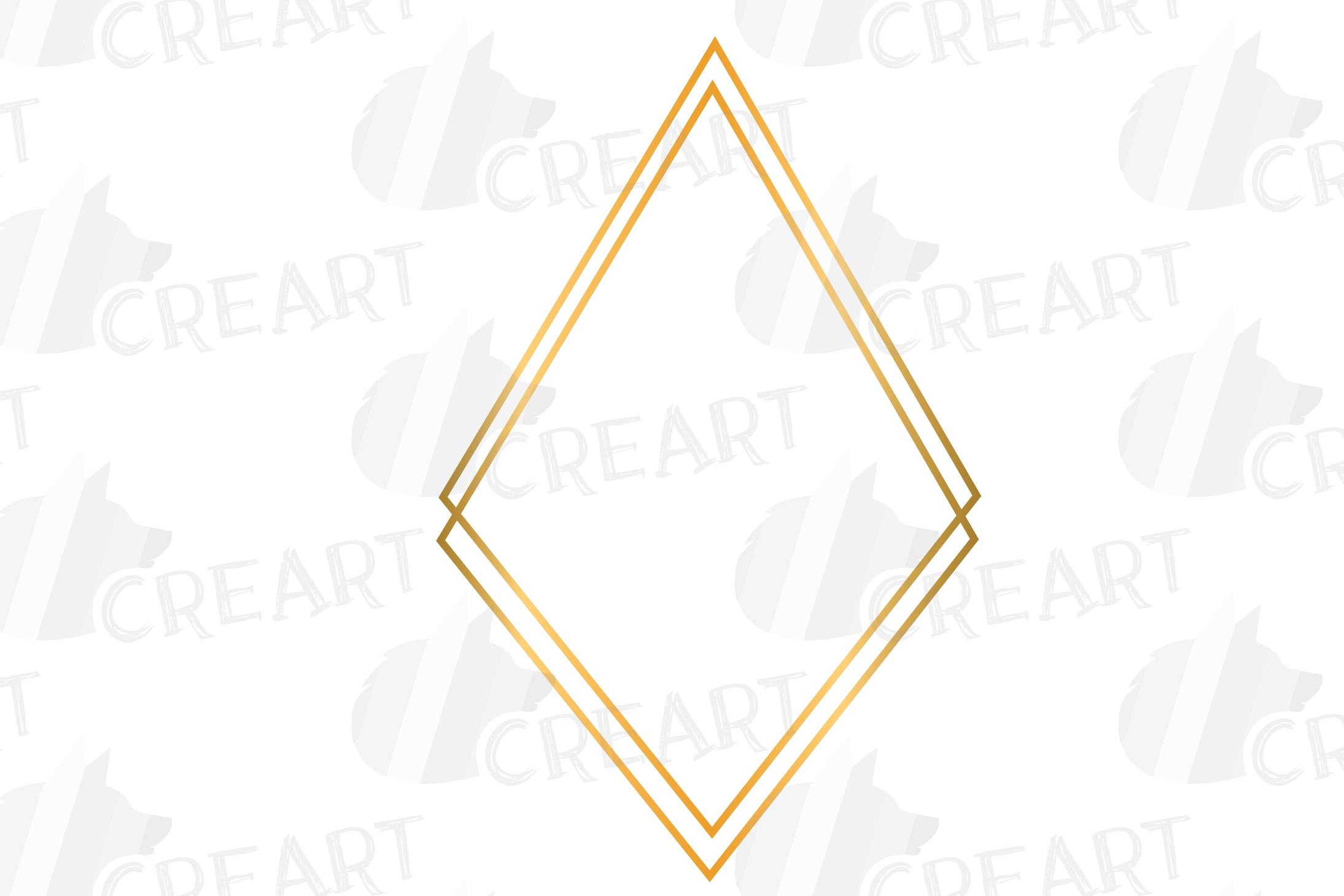 Golden geometric frames clip art. Wedding invite geo borders example image 6
