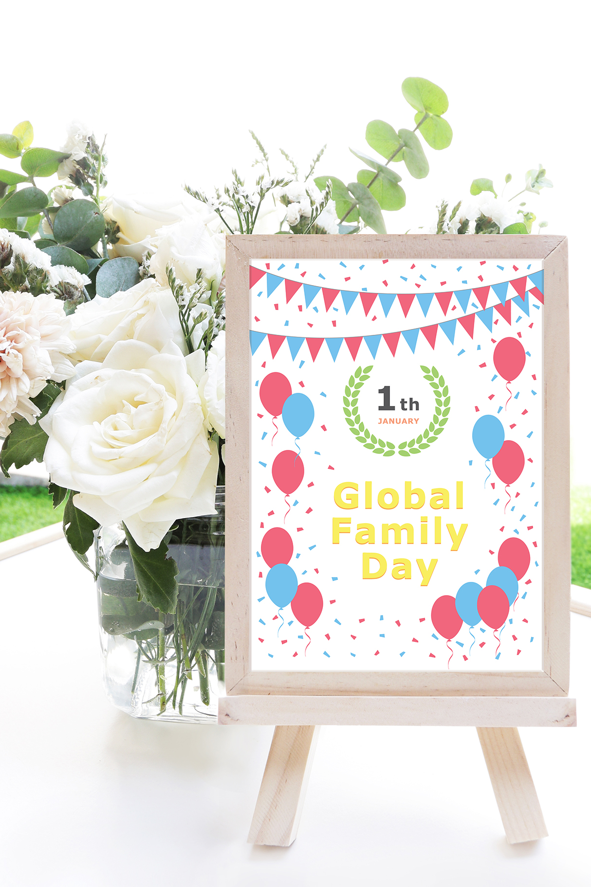 January 01 - Global Family Day. Greeting Card. example image 9