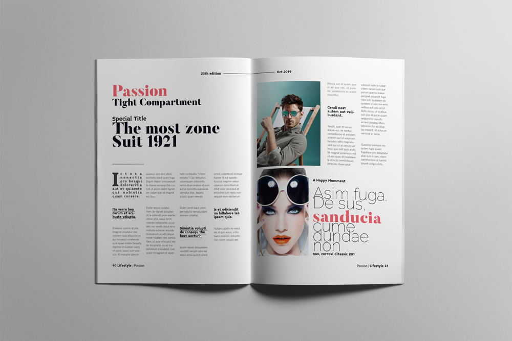 Fashion Magazine Layout Template example image 21