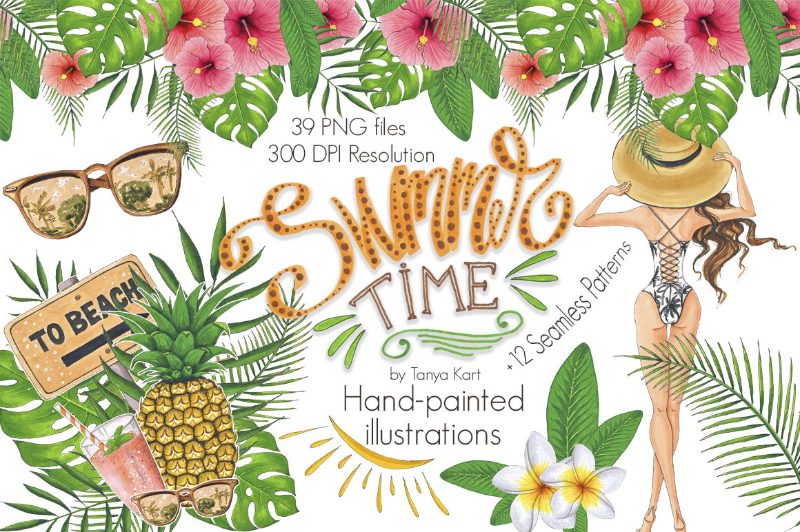 Summer Time Hand-painted Collection example image 1
