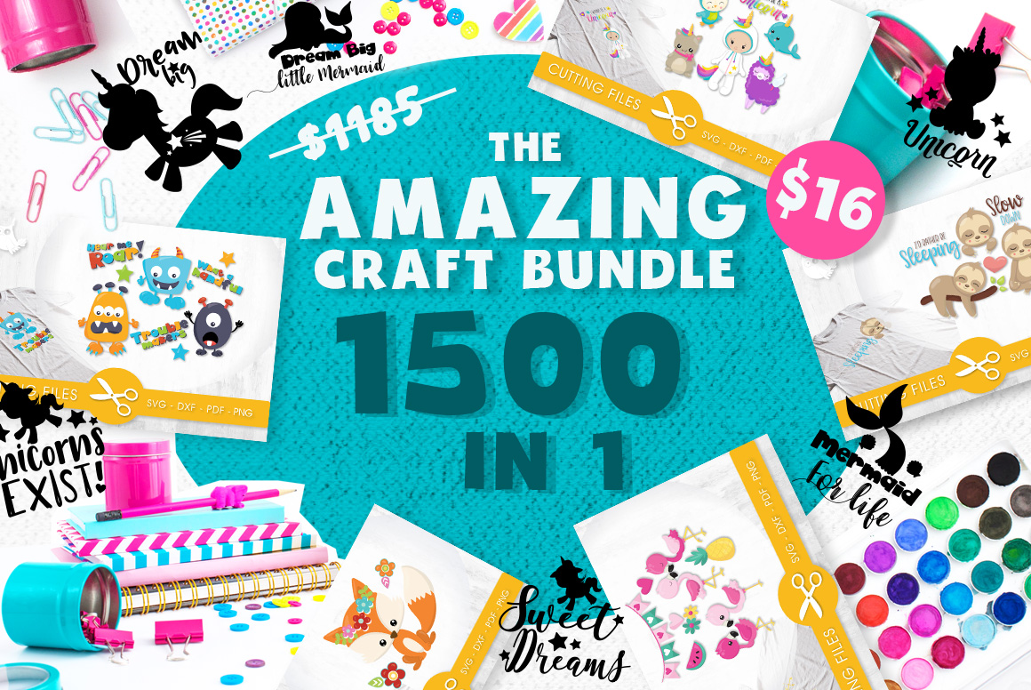 The AMAZING CRAFT BUNDLE, 1500 in 1, cutting file svg, dxf, example image 1
