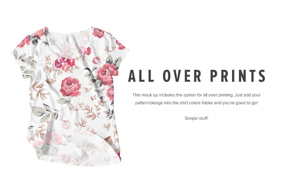 8 Premium Girl's T-Shirt Mockups example image 3