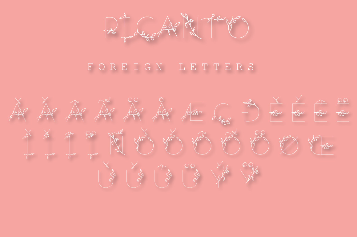 PICANTO - FLORAL FONT example image 8