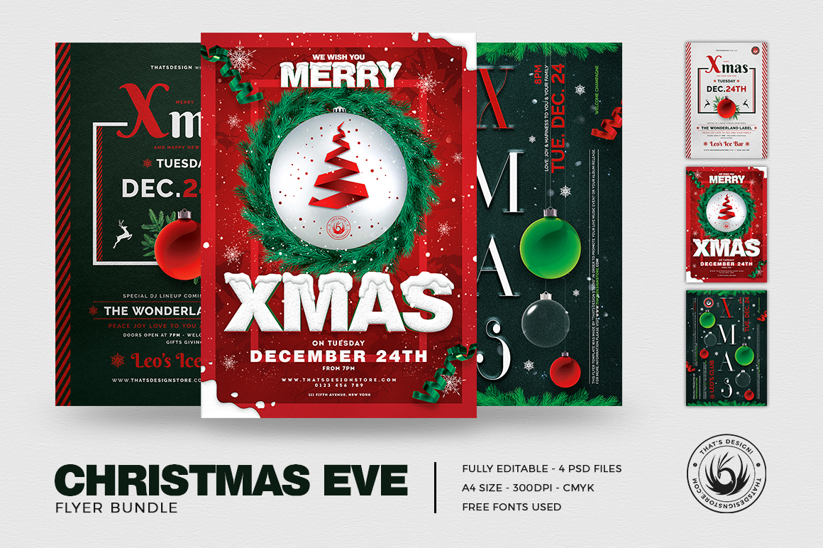 Christmas Eve Flyer Bundle V2 example image 2