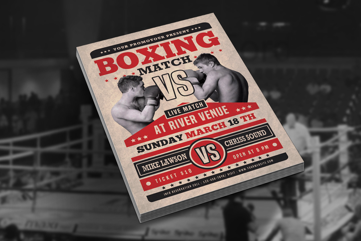 Boxing Match Flyer example image 2