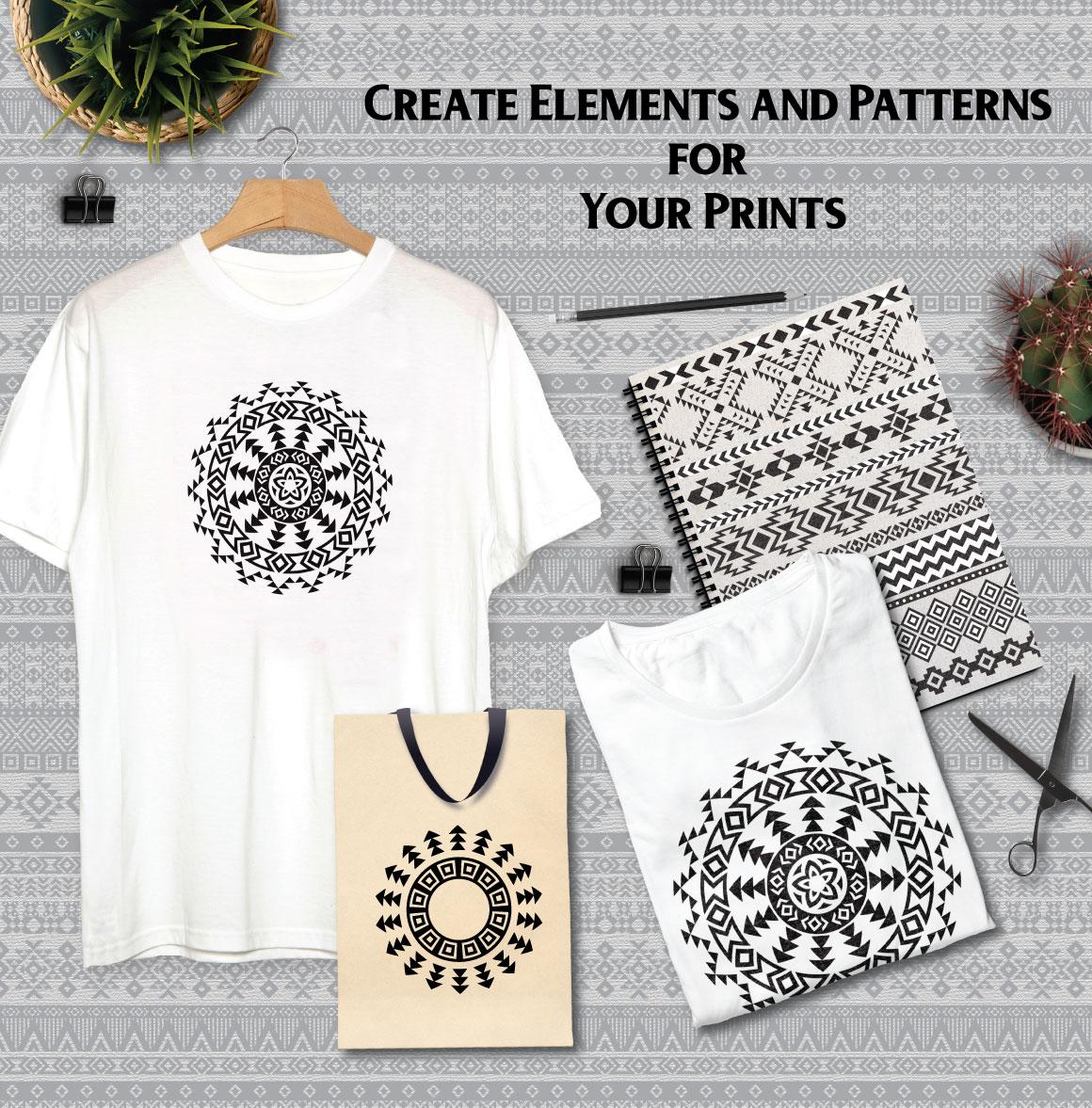 80 Tribal Pattern Brushes for Adobe Illustrator example image 6