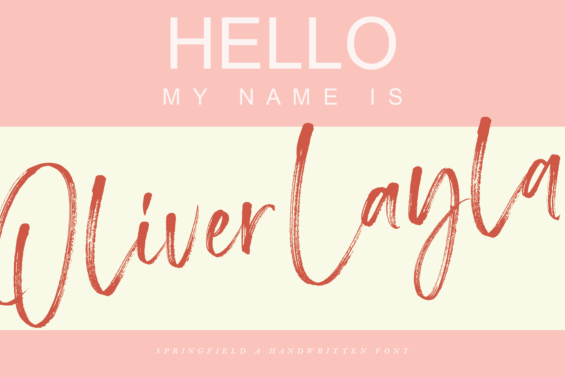 Springfield - Handwritten Font example image 12
