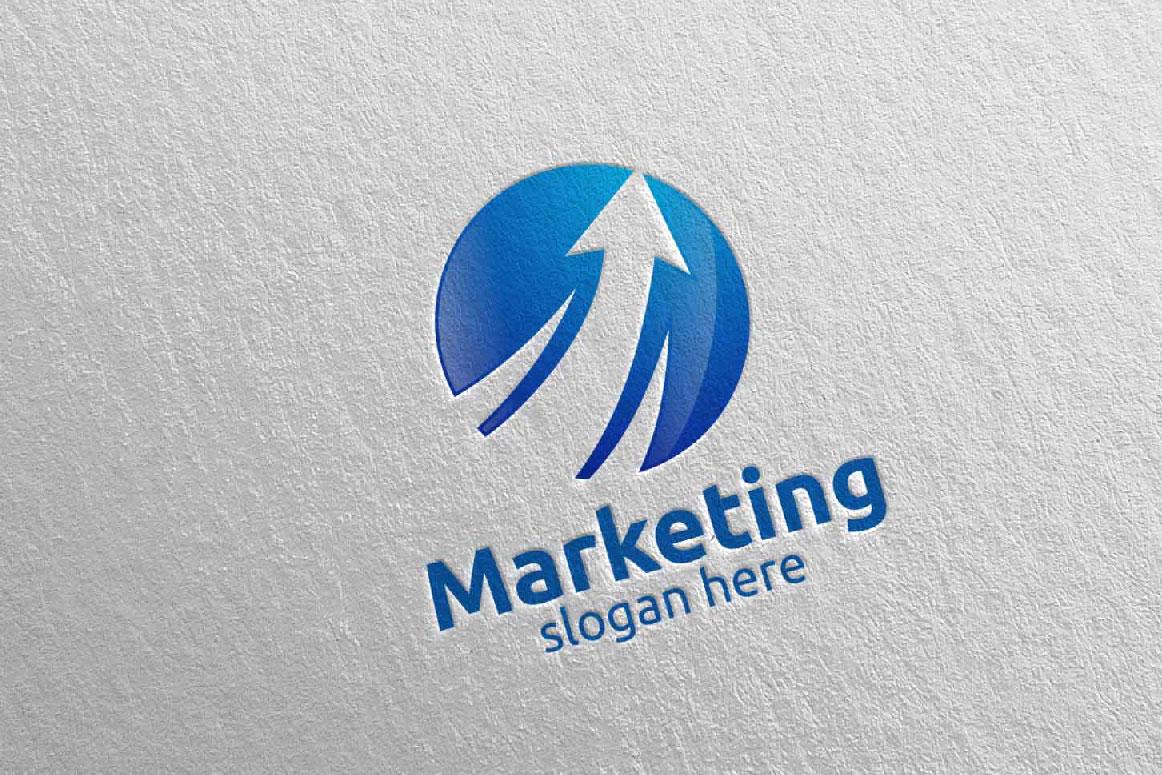 Marketing Financial Advisor Logo Design 27 example image 1