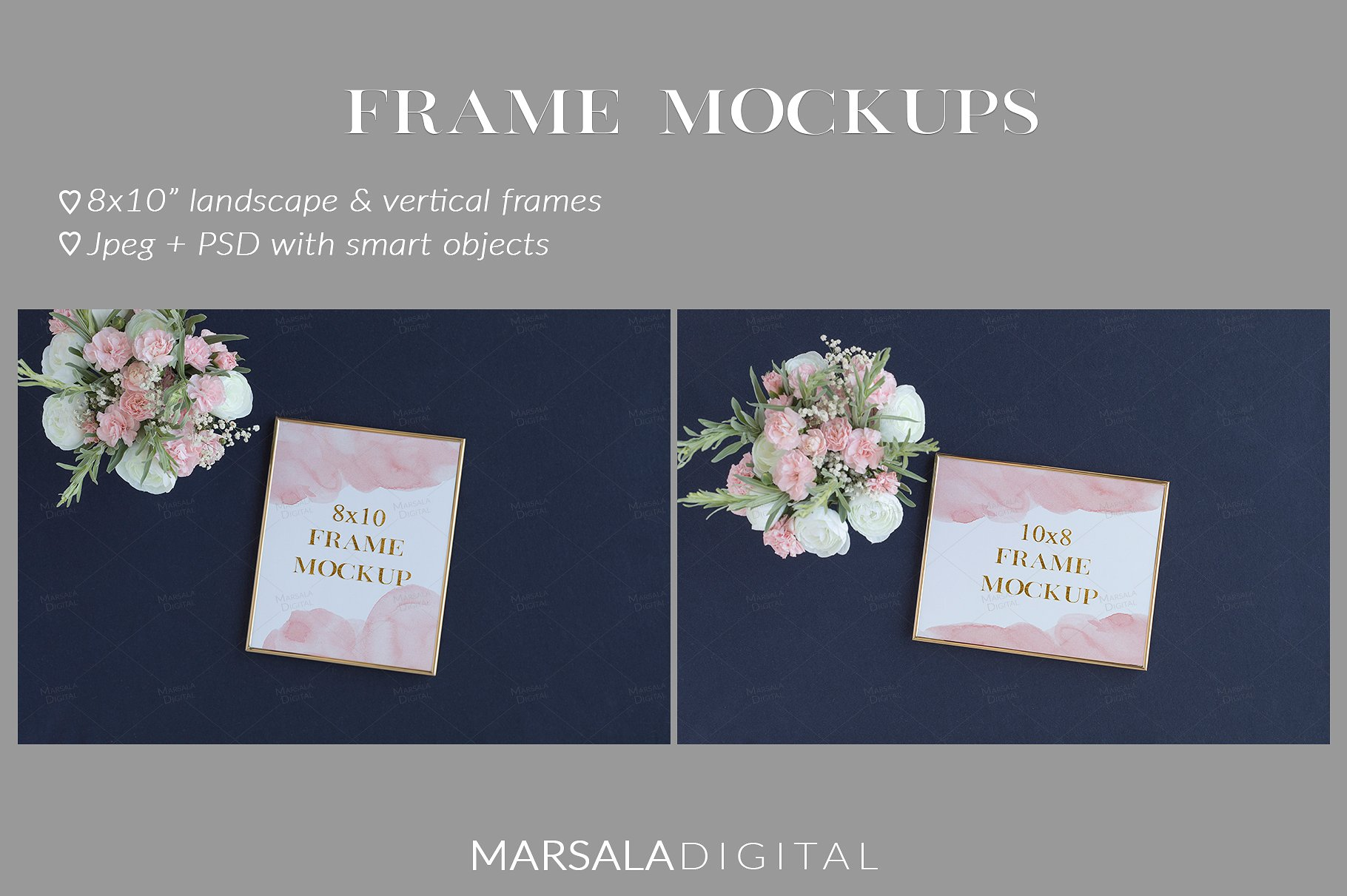 Blush and Navy Wedding Mockup Bundle example image 8