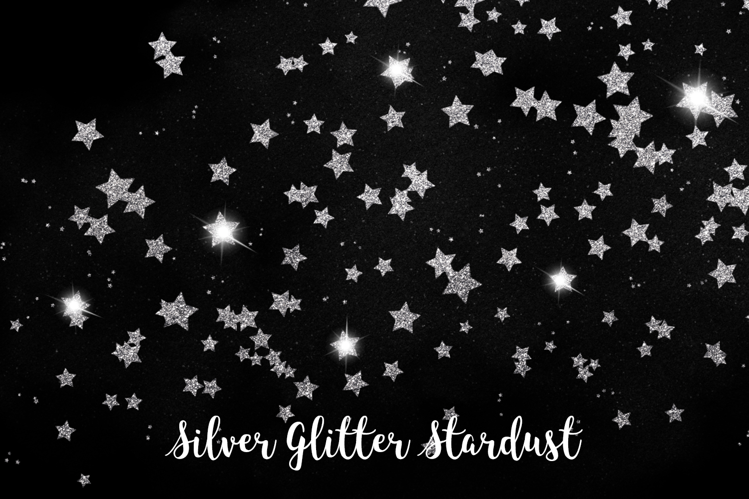 Silver Glitter Stardust, Transparent PNG example image 3