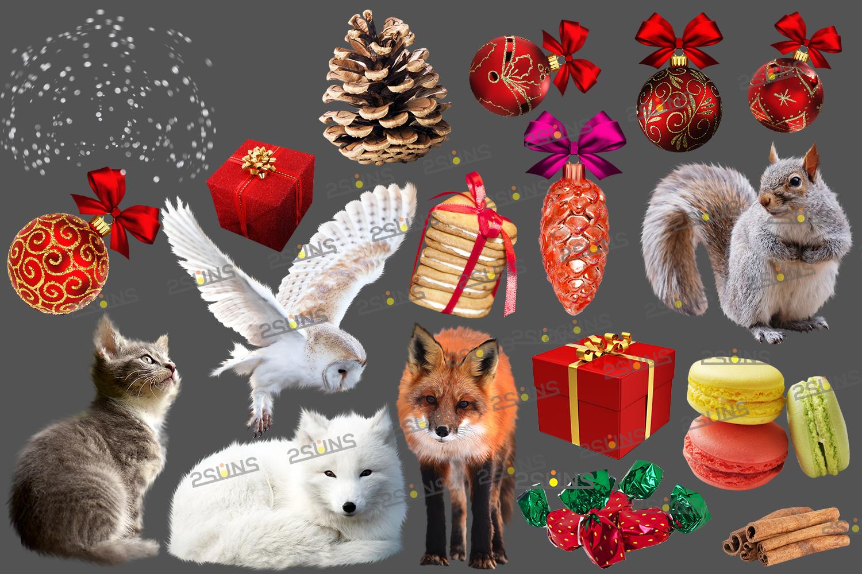 67 Christmas, overlays, photoshop PNG backdrop snow globe example image 3