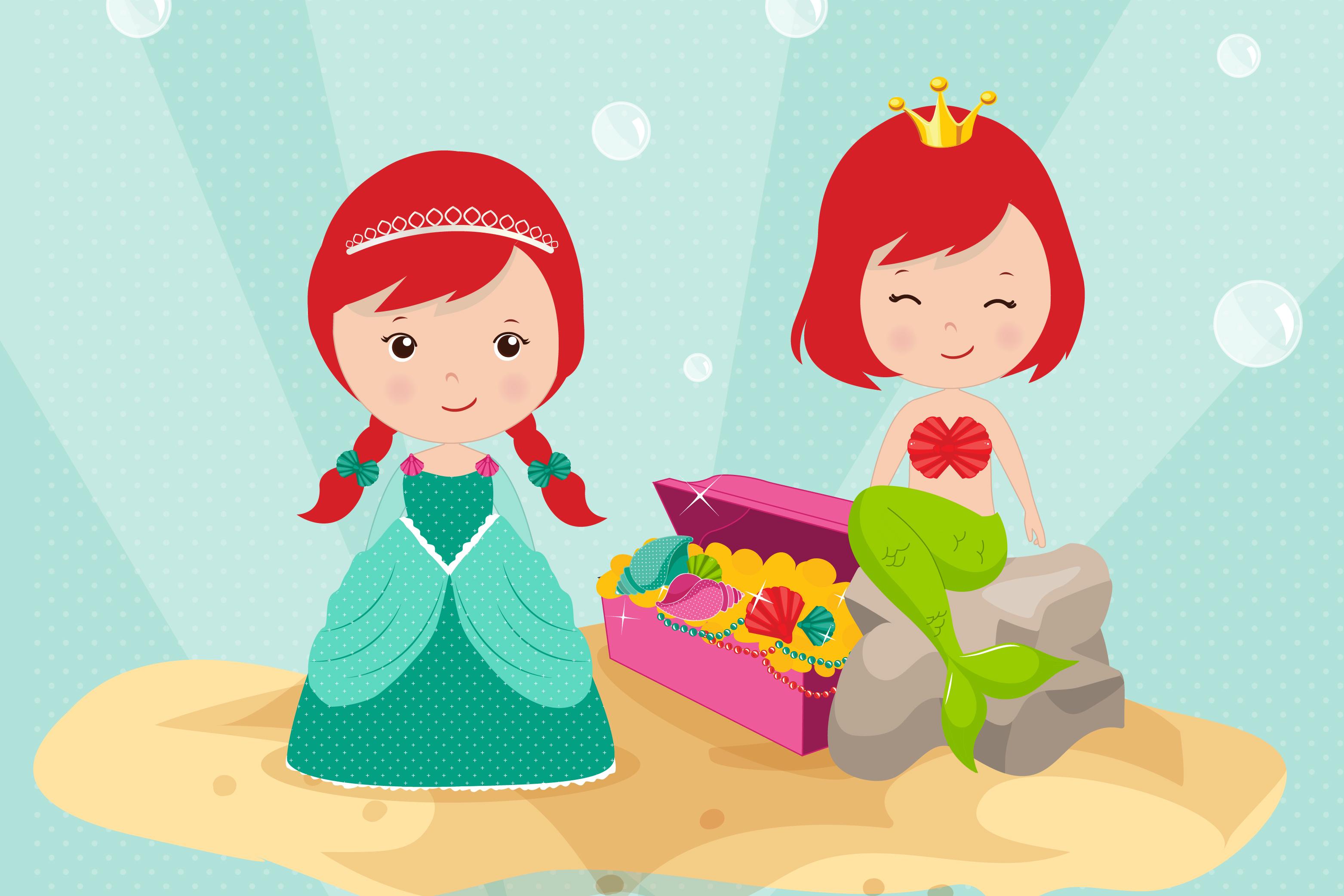 Mermaids graphics, Princess clipart set example image 2
