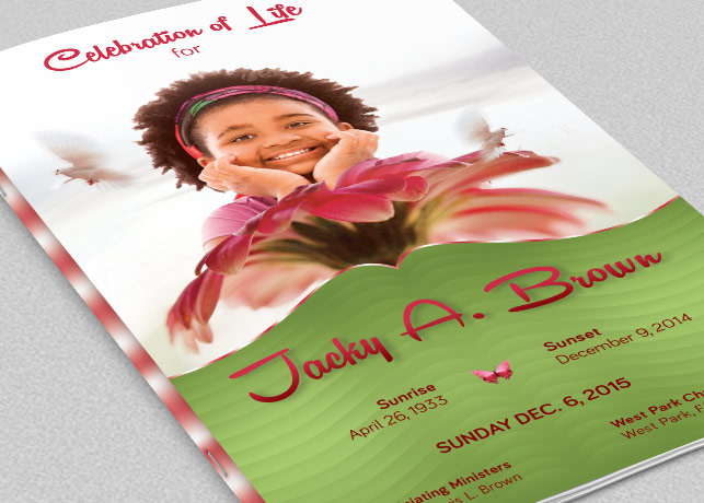 Child Funeral Program Template example image 1