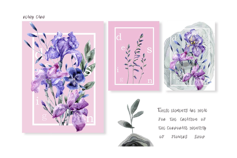 Botanical Garden Watercolor Set example image 4