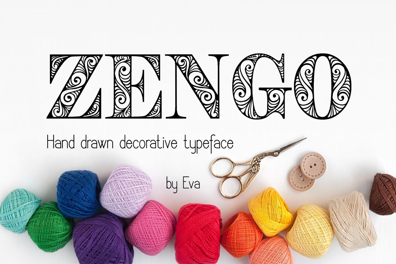Zengo font example image 3