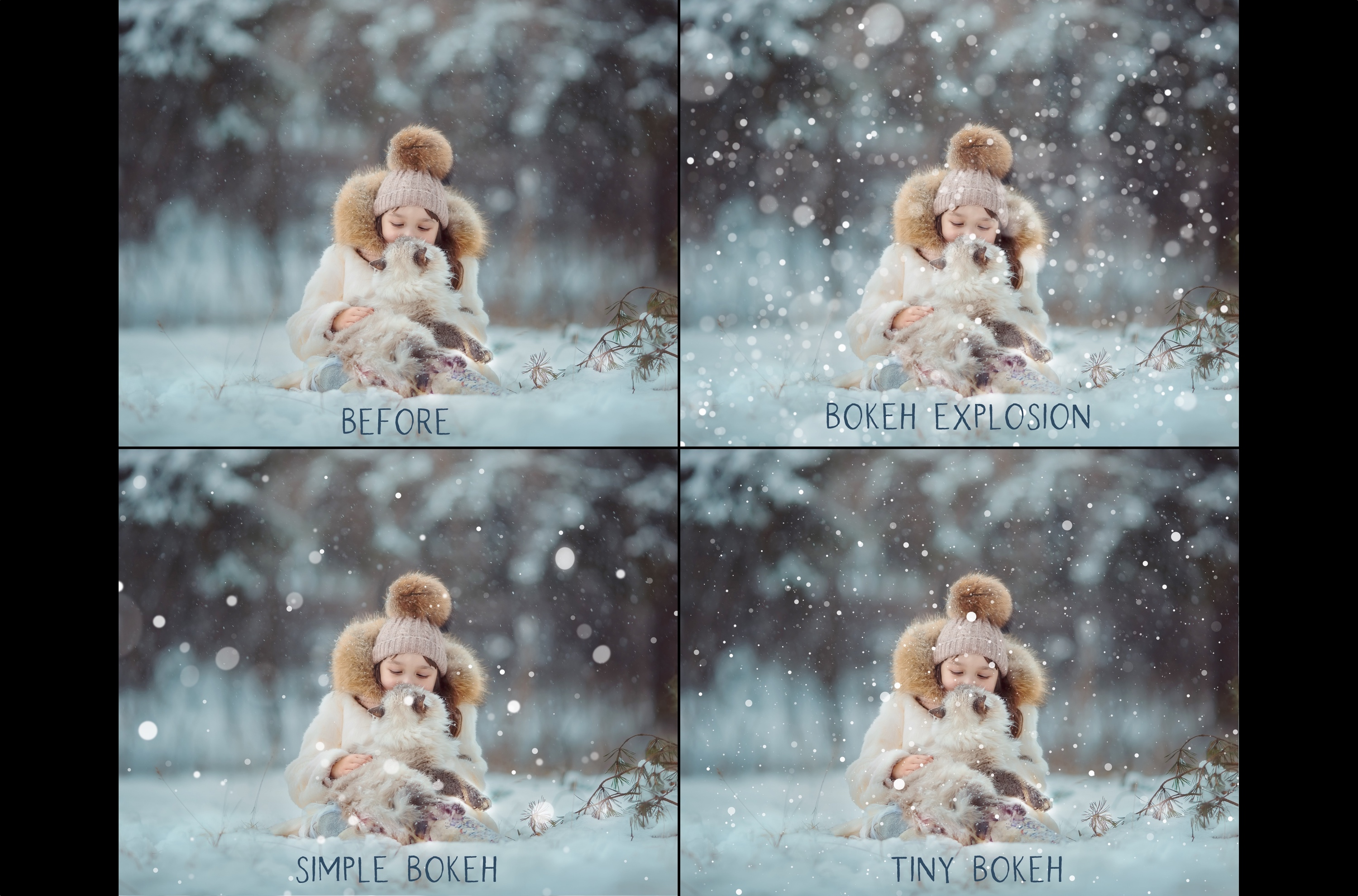 Bokeh snow overlays example image 2