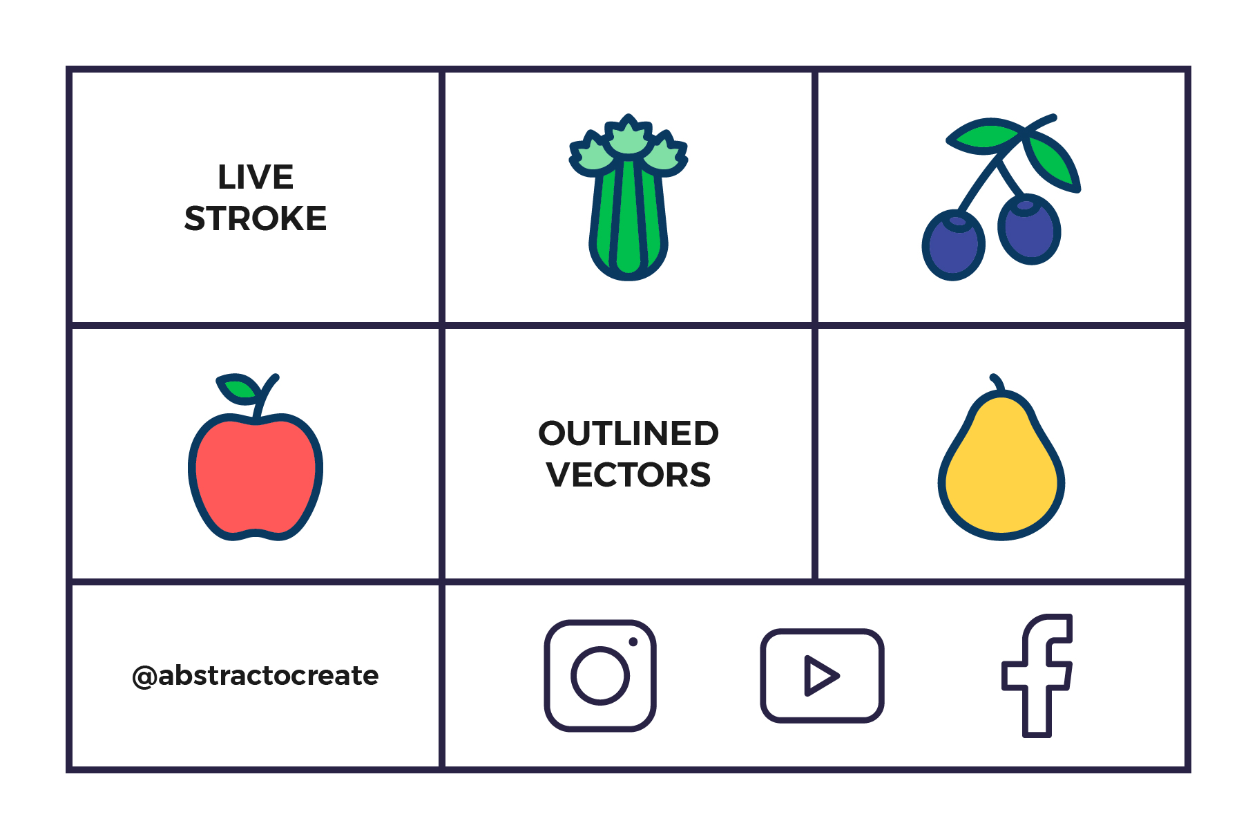 Fruit and Vegetables Icon Set example image 7