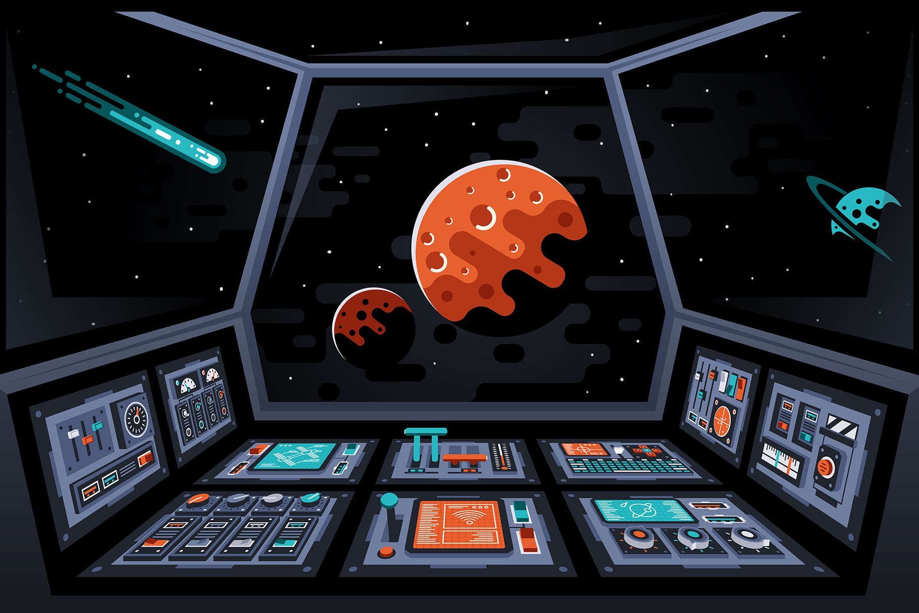 Control Panels Spaceship example image 8