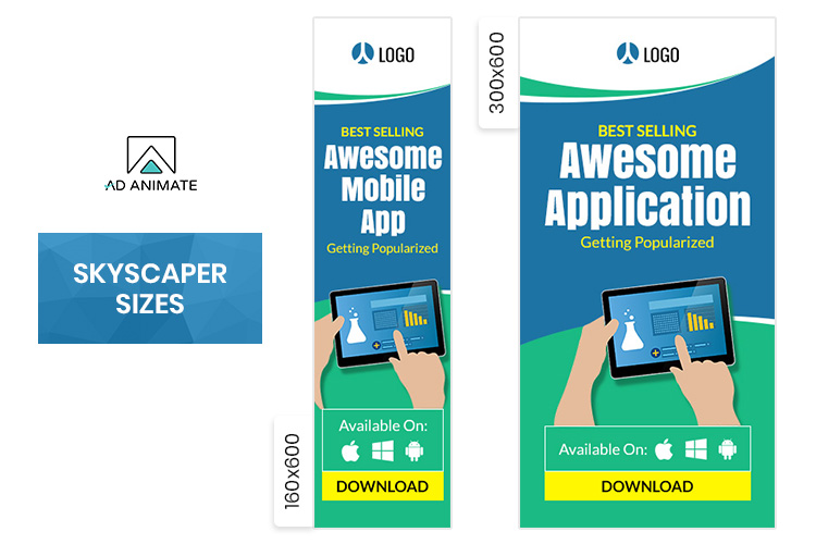 Mobile Application Animated Ad Banner Template example image 3