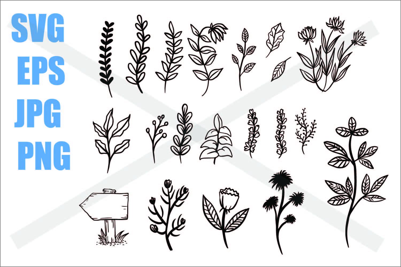 Plant Set - SVG/EPS/JPG/PNG example image 1