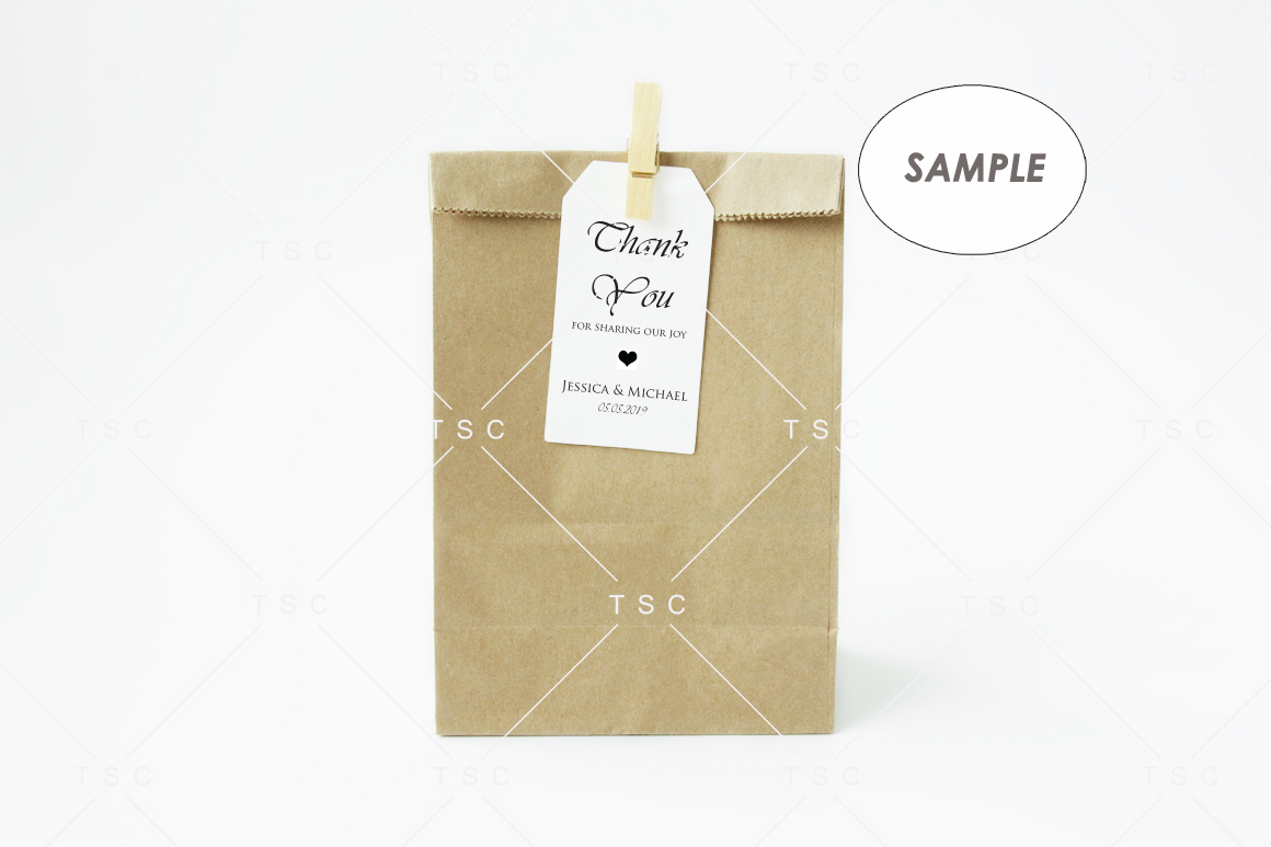 Goodie Bag Tag / Label Mockup example image 2
