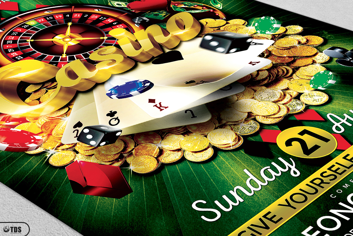 Casino Flyer Template V1 example image 5