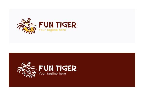 Fun Tiger - Comic Animal Graphic Stock Logo Design Template example image 2