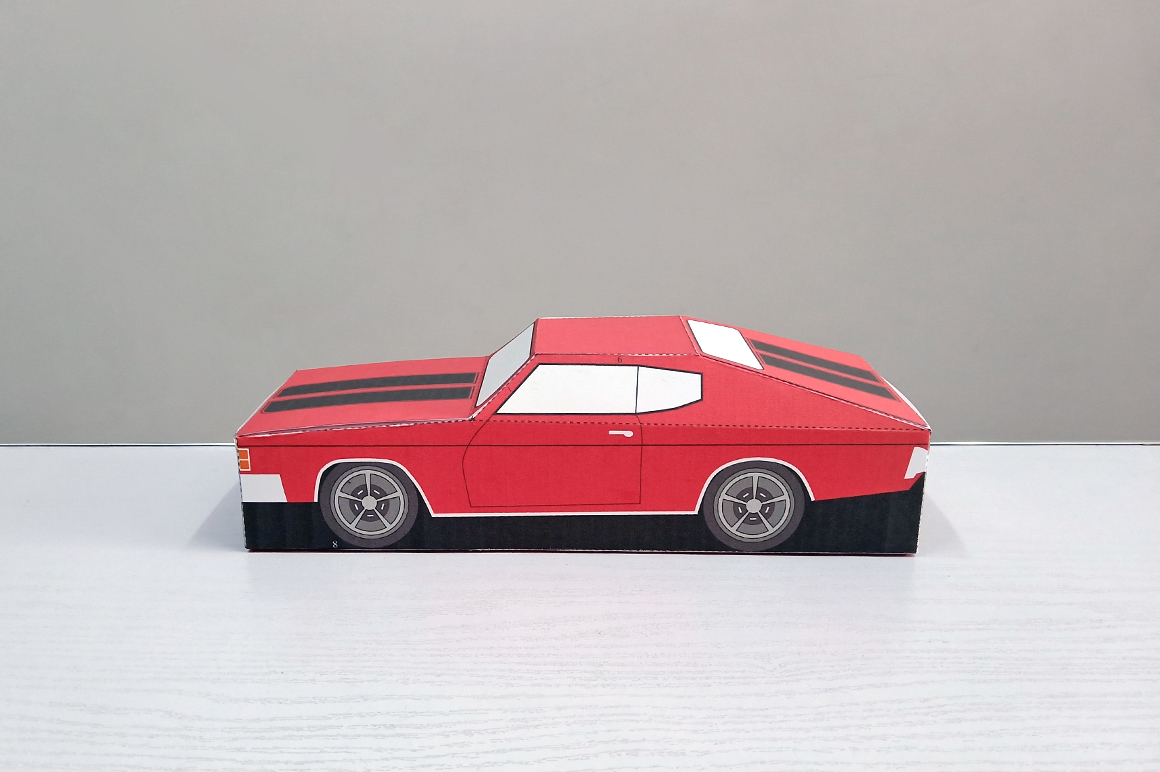 DIY Chevelle Car favor - 3d papercraft example image 2