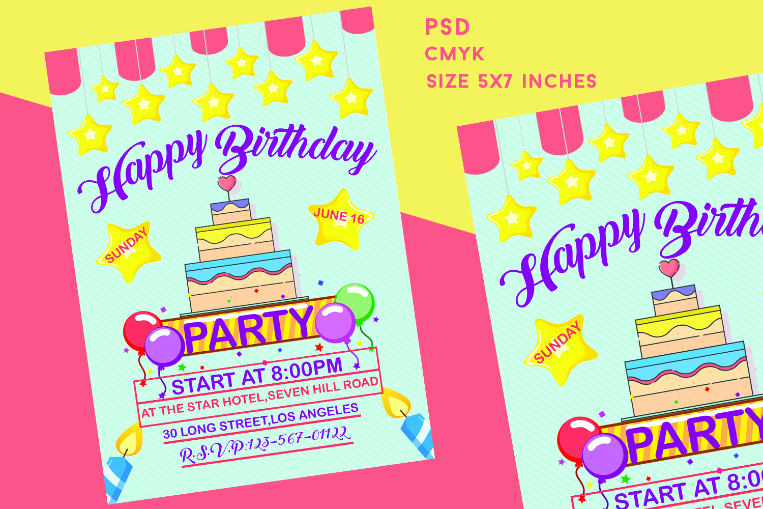 Swell Birthday Invitation Card 319946 Card Making Design Bundles Personalised Birthday Cards Paralily Jamesorg