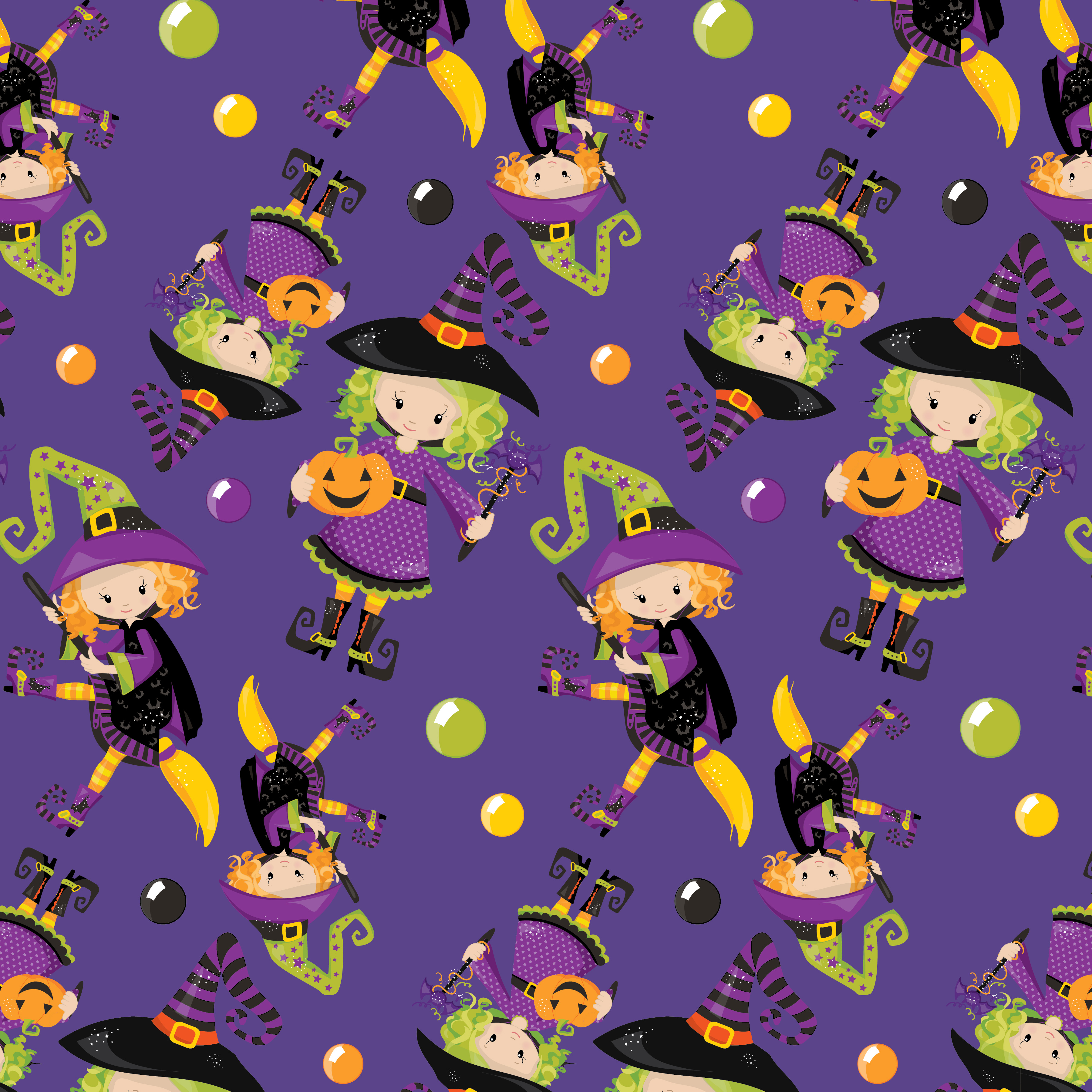 HALLOWEEN-PAPERS, digital papers example image 5