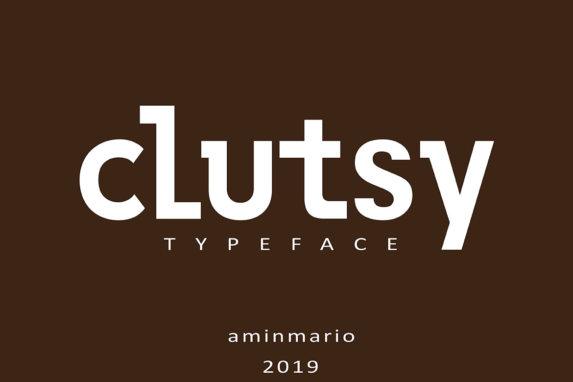 CLUTSY | Display Typeface example image 10