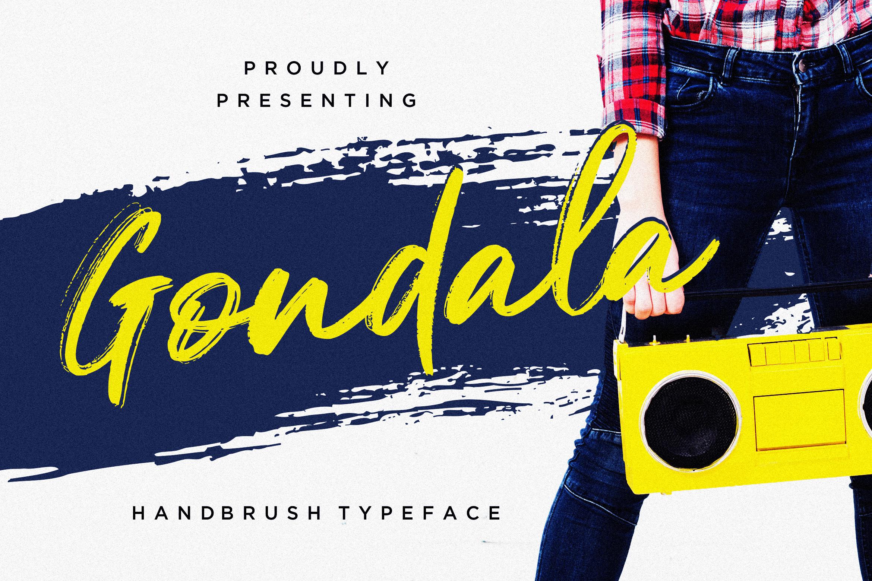 Gondala Handbrush Typeface example image 1