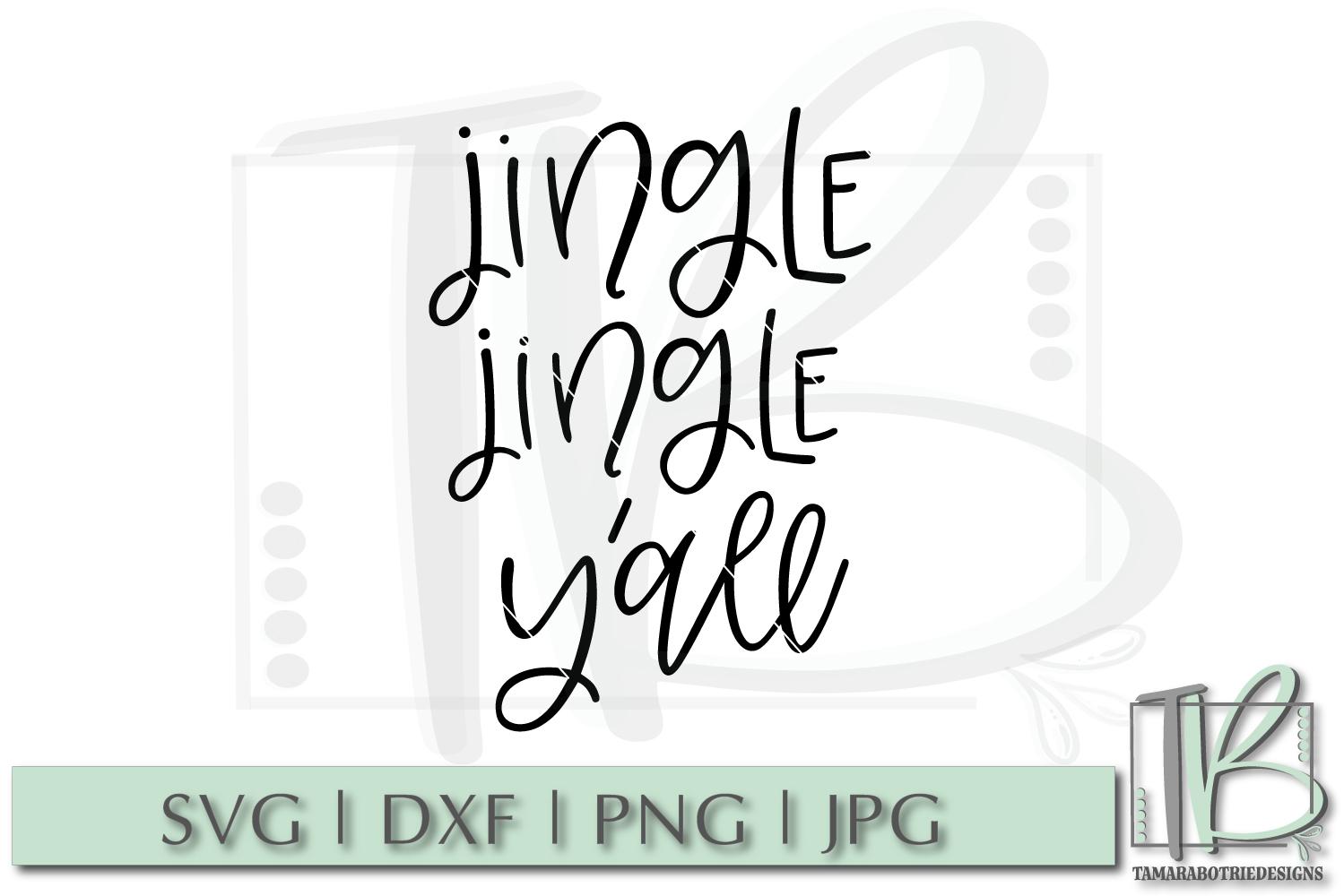Jingle Jingle Y'all SVG, Christmas Cut file example image 2