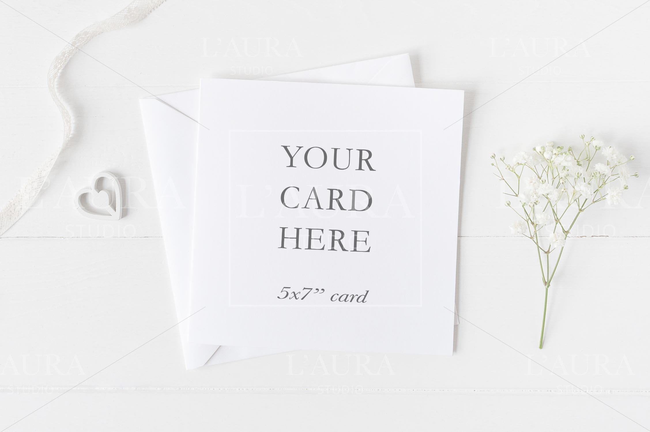 Wedding Square Card Mockup - crd231 example image 1