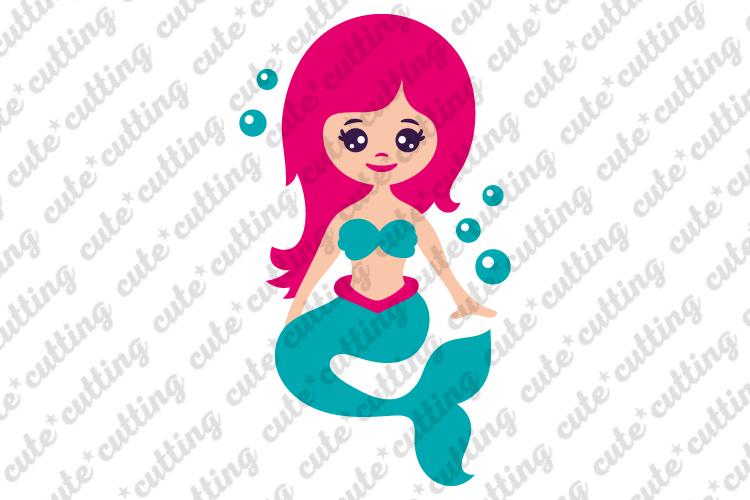 Mermaid svg, cute mermaid svg, Mermaid tail svg, dxf, png example image 1
