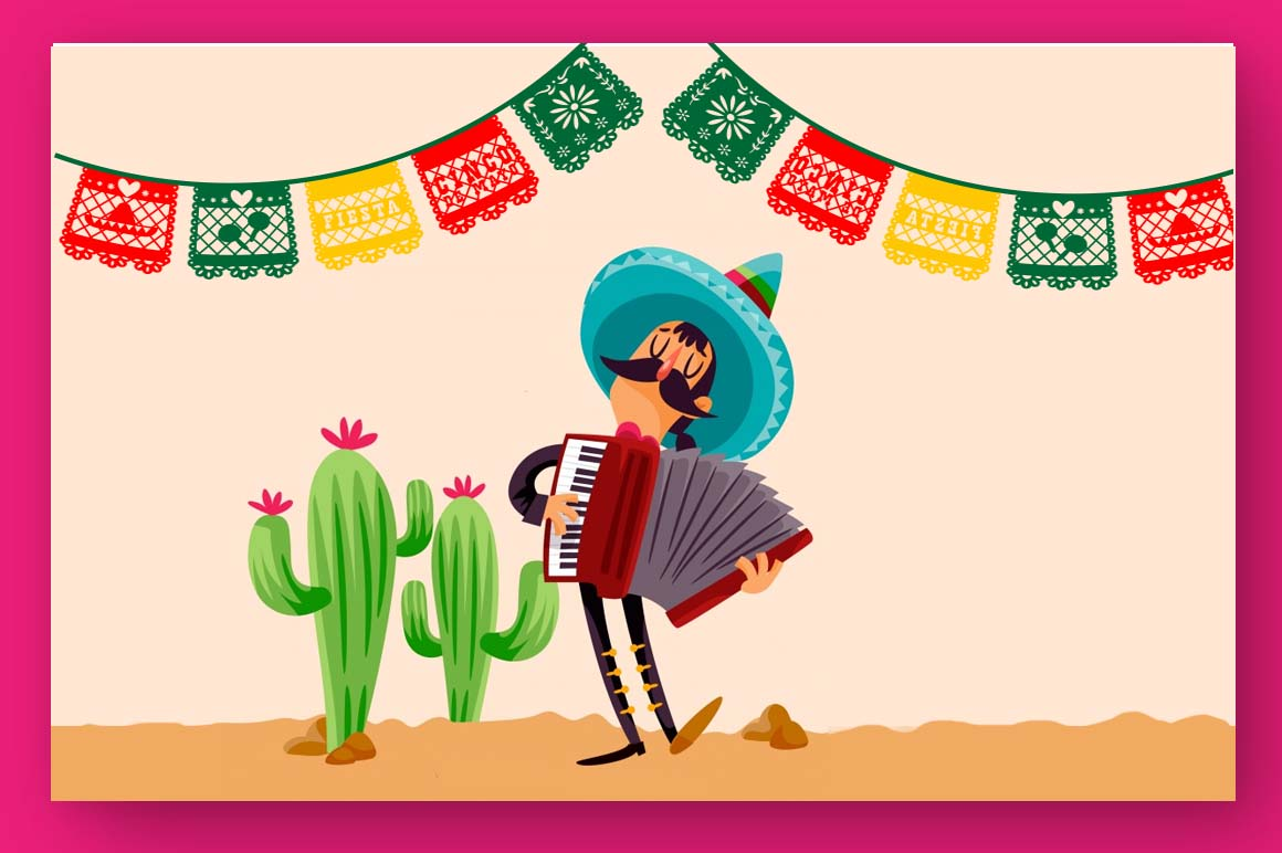 Papercut blocks font a mexican party banner example image 5