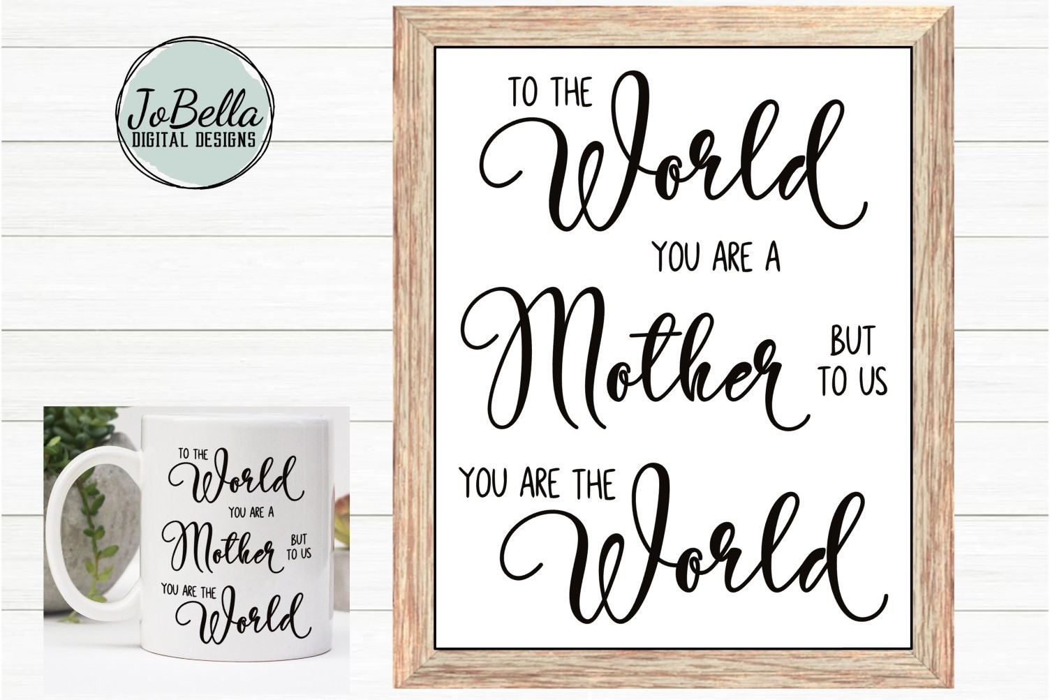 Mom SVG, Sublimation Design and Mother's Day Printable example image 1