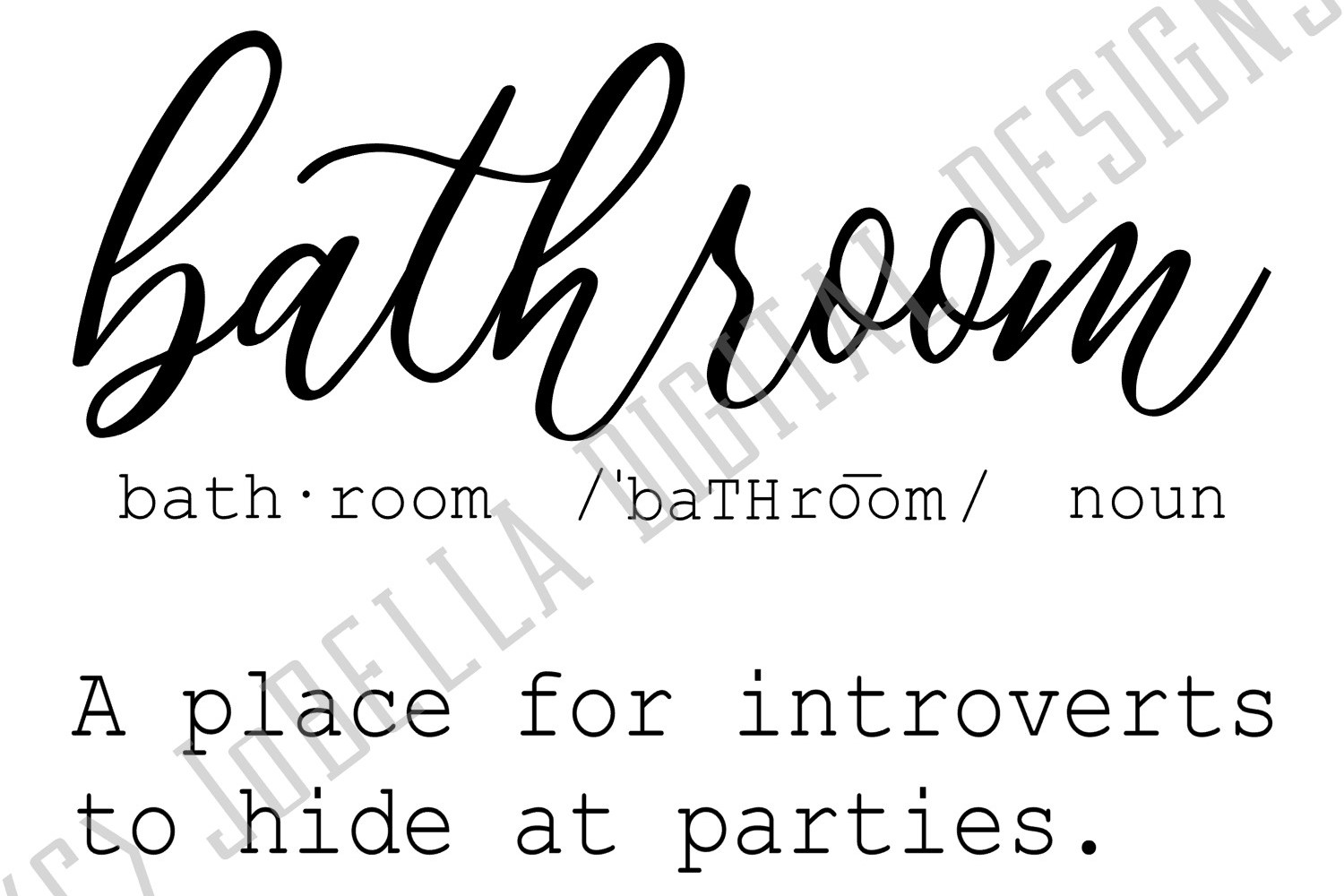 Funny Bathroom Definition SVG, Sublimation File, and Print example image 2